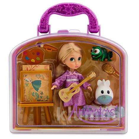Набор мини кукла малышка рапунцель 13см фото №1