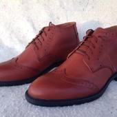 Зимние классические деловые ботинки Oxford размеры 40-45 #339