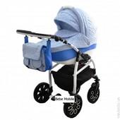 Универсальная коляска 2 в 1 Bebe-mobile Careto 581G, синий/голубой (цветочки)