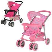 Мелого 9304 BWT кукольная коляска колясочка люлька для кукол Melogo