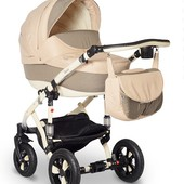 Универсальная коляска Bebe-Mobile Toscana 237W, бежевый с коричневым