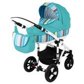 Универсальная коляска 2 в 1 Bebe-mobile Toscana 924G, светло-голубой с цветными вставками