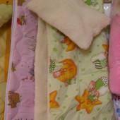 Одеяло и Подушка. Детское. Меховое. Разные цвета.