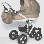Универсальная коляска 2 в 1 Bebe-mobile Toscana PIK2, коричневый/бежевый (стеганка)
