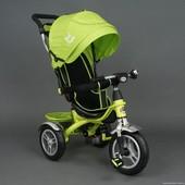 Детский трехколесный велосипед Best Trike 5388 салатовый