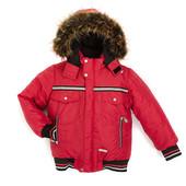 Модная, теплая, зимняя куртка на мальчика сезона 2015 года красная
