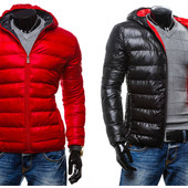 Яркая мужская зимняя стеганная куртка Kamlin