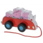 Распродажа - Каталка Деревянная семья Пеппы в машине от Peppa (Великобритания)