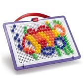 Набор для занятий мозаикой (10 мм фишки,(140 шт)+ доска 22*16, переносной)