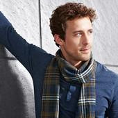 Теплый мужской фланелевый шарф от TCM Tchibo, Германия