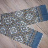 Италия,Серый двойной мужской шарф 125*23 см