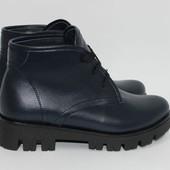 Стильные кожаные ботинки.Осень-зима 2017-2018гг.