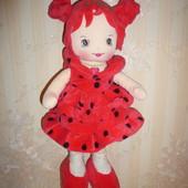 Мягкая кукла Grace клубничка замляничка 35 см Испания Aguila de oro toys