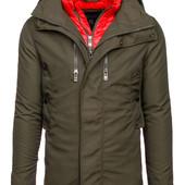 Демисезонная мужская куртка парка пальто