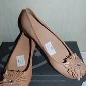 Распродажа новые кожанные туфли балетки Salamander р. 37 оригинал
