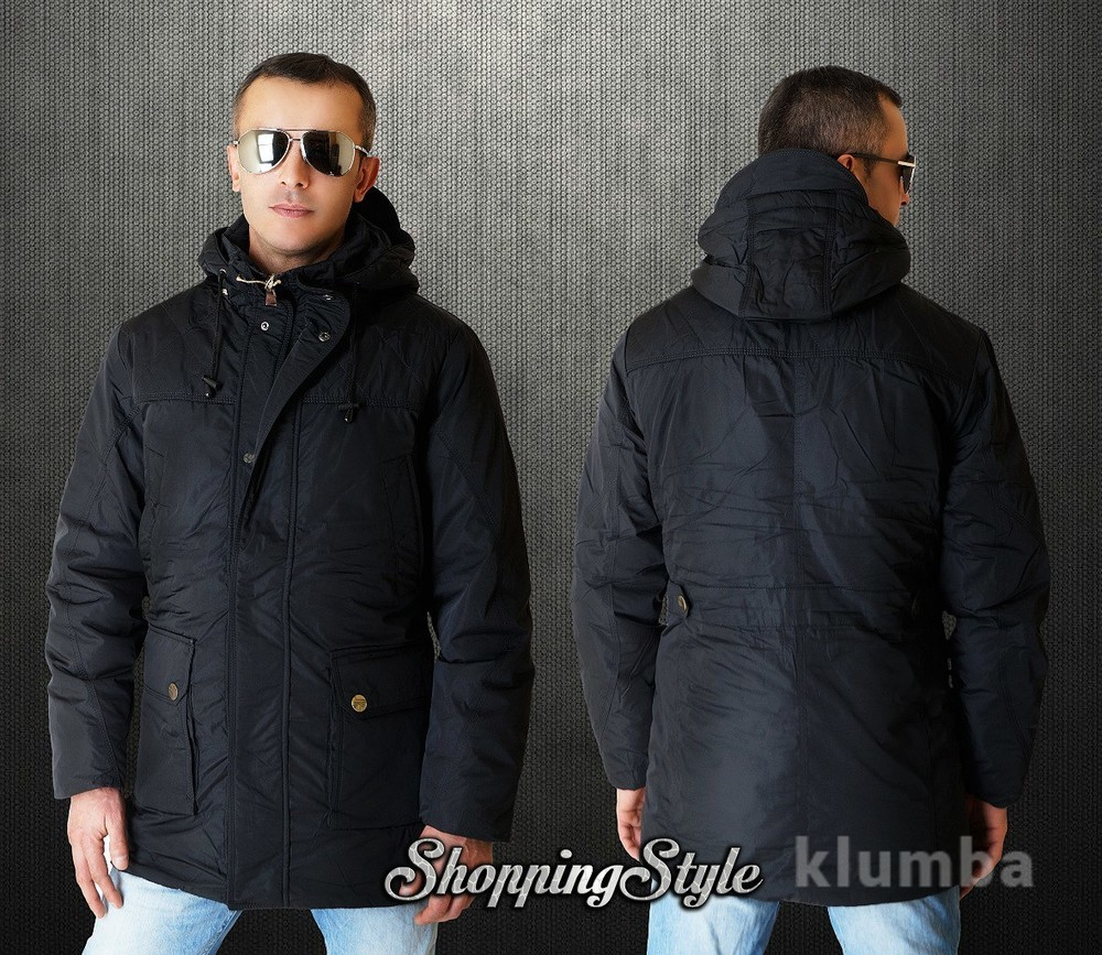 Куртка парка мужская трансформер зима-весна-осень 2 цвета фото №1