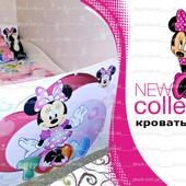 Кровать детская Минни Маус с рисунками Дисней для девочки!