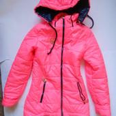 Демисезонное пальто - длинная куртка рост 140-146см