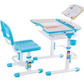 Комплект парта и стул-трансформеры Fundesk Colore Blue