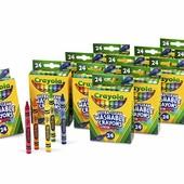 ориг из США  смываемые и безопасные карандаши для деток фирмы Crayola
