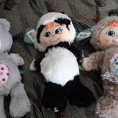 Мягкая игрушка музична Ведмедик, котик, панда Крихітка ТМ Левеня