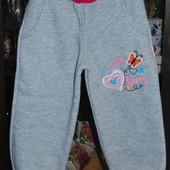 Теплые спортивные штаны флис на 2 -3  года