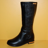 Демисезонные сапоги для девочек ТМ Эльф код 1059 размер 32-37