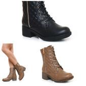 сапоги женские шнуровки стеганые