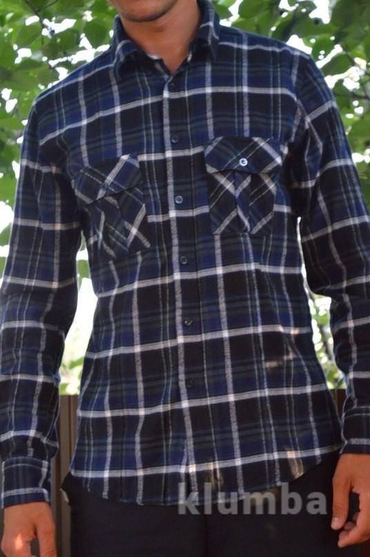 Байковая рубашка в клетку Voyager фото №1