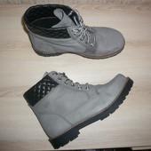 Берцы ботинки деми 39 р 6 р стелька 25,5 натуральная кожа нубук  Faith Asos