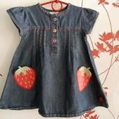 Джинсовое платьице Bluezoo на модницу 12-18 м.