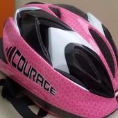 Шлем Courage розовый, размер 52-57 cm
