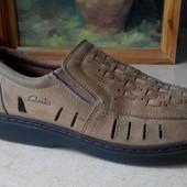 № 1737 туфли мокасины Clarks 42 кожа кроссовки