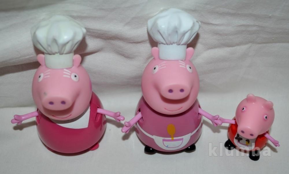 Оригинальная фигурка пеппа пиг peppa pig семья поваров фото №1