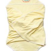 Махровое полотенце размер 95*95 см с уголоком-капюшоном