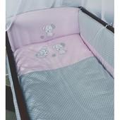 Детское постельное в кроватку из 3-ед- с Вышивкой Песик