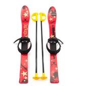 Лыжи детские  + палки Польша, подарок супер ! 90 см 5 цв