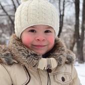Зимняя шапочка косами 3-4 года