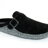 100 B2-014ф ,   Тапочки мужские   материал- фетр  цвет - черный  Бренд Inblu