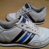 Кожаные кроссовки Adidas оригинал р.42