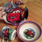 Детские наборы посуды с любимыми героями мультфильмов