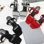 Новинка!Босоножки на каблуке в стиле Prada