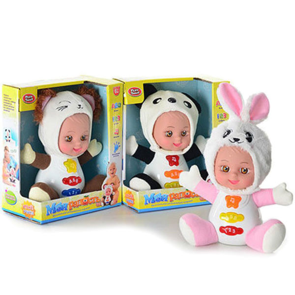 Музыкальная развивающая кукла моя радость 7421: размер 22см, 3 режима (музыка/свет) фото №1