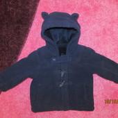 Продам теплое флисовое пальтишко   р 74