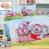 Постельное белье детское, сатин - Милые мишки