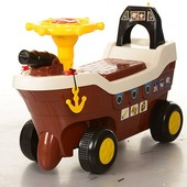 Машинка толокар Бемби HZ 606 корабль каталка детская Bambi