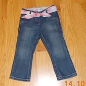 Гламурные фирменные джинсы для девочки 12-18 месяцев, 86 см