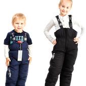 Полукомбинезон зима 2016 для детей, аналог Ленне  синие и черные прямые