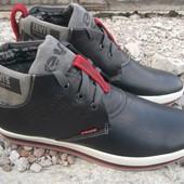 зимние мужские ботинки натуральная кожа Код: 33 pueblo
