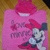 Фирменное Детское полотенце - пончо с Минни Маус малышке фирменное